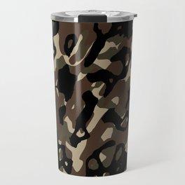 Camouflage Abstract Travel Mug