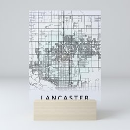 Lancaster CA USA White City Map Mini Art Print