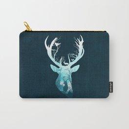 Deer Blue Winter Carry-All Pouch