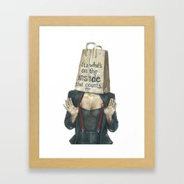 Brown Baggin' It No. 2 Framed Art Print