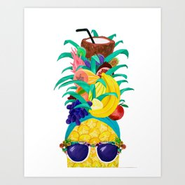 Chiquita Pineapple Art Print