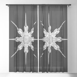 Ninja Star 3 Sheer Curtain