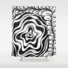 Doodled Rose & Vine Shower Curtain