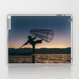 Burmese Fisherman Laptop & iPad Skin