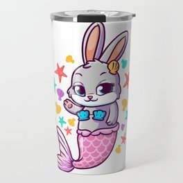 Cute Bunny Mermaid Swimming Bunnies Travel Mug