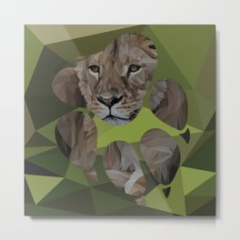 Inside the lion's paw Metal Print