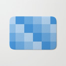 Four Shades of Light Blue Square Bath Mat