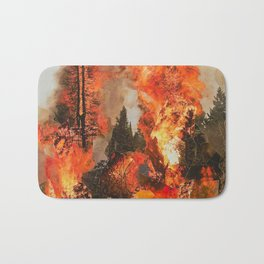 Fire Study #1 Bath Mat