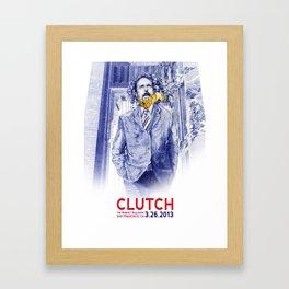 Clutch San Francisco Poster Framed Art Print