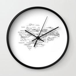 CityStations - London Tube. Minimalist map Wall Clock