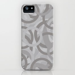 Geometry by Glojag Gray iPhone Case