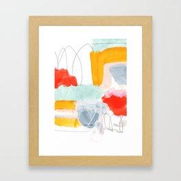 abstract painting XVI Framed Art Print