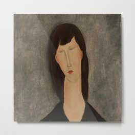 "Amedeo Modigliani ""Bust of a Woman"" Metal Print"