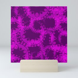 Spring pastel gentle purple circles and ellipses depicting abstract flowers. Mini Art Print