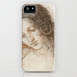 Leonardo da Vinci - Head of Leda (1506) iPhone Case