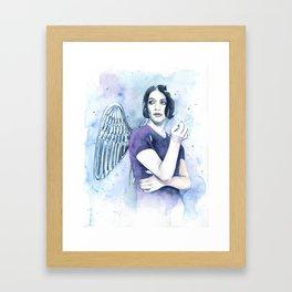 Smoking Angel Framed Art Print