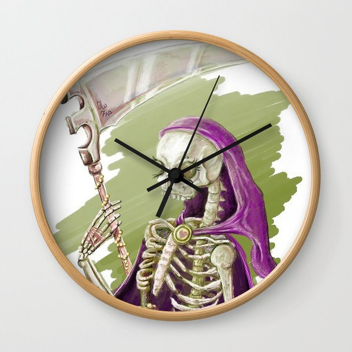 Purple Death Wall Clock