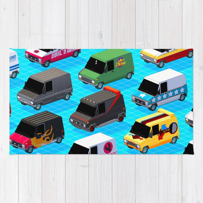 Secret Life Of Vans Rug By Ajaykarat Society6