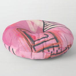 pinch me - abstract painting Floor Pillow