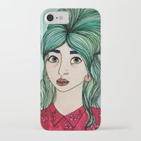 cassandra jean iPhone & iPod Cases featuring Jean by Hanna Tingström