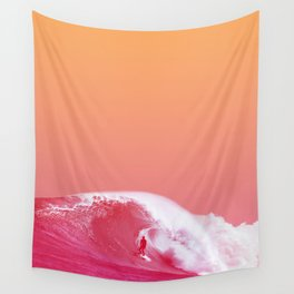 PEACHY SURF Wall Tapestry