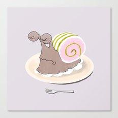 Snail Cake Canvas Print