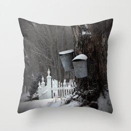 Sugaring 1 - Maple Syrup Throw Pillow
