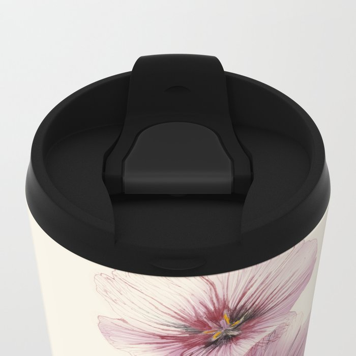 Geranium & Gardenmint Metal Travel Mug