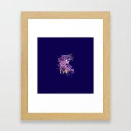 Purple sugar skull Framed Art Print