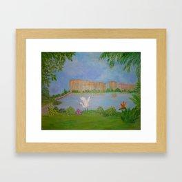Habitat of Snowy Egret Framed Art Print