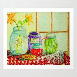 Kitchen Light Dancing Art Print