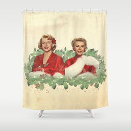 Sisters - A Merry White Christmas Shower Curtain