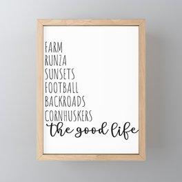 The Good Life NE Framed Mini Art Print