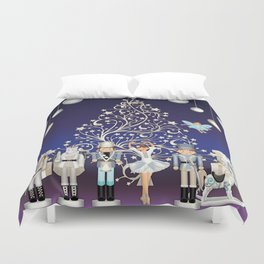 Christmas time - Nutckracker Story on Christmas eve Duvet Cover