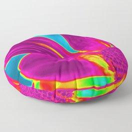 Neon Daisy Floor Pillow