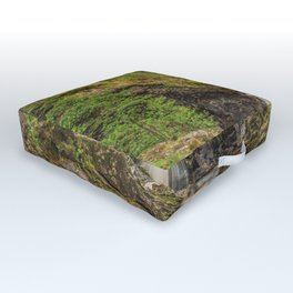 Forest Waterfall Outdoor Floor Cushion