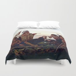 The Abduction of Boone's Daughter by the Indians Duvet Cover