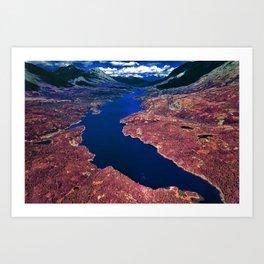 Parlament Blue reservoir Art Print