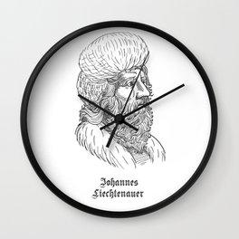 Johannes Liechtenauer Wall Clock