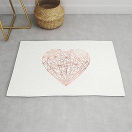 Rose Gold Geometric Heart Rug
