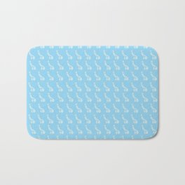 Pastel Blue Peens, Penis Repeat Bath Mat