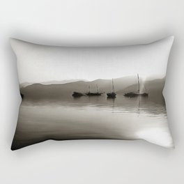 Gulets In Greyscale Rectangular Pillow