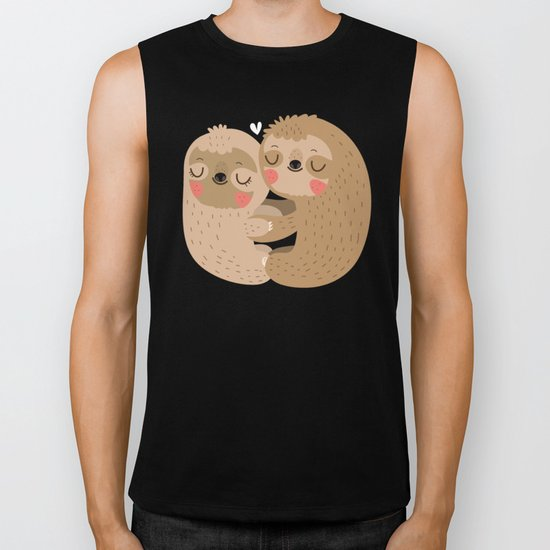 Sloth love Biker Tank