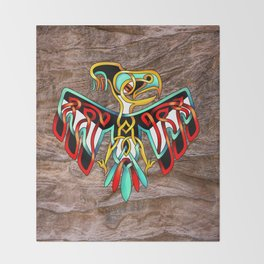 Thunderbird-knot Throw Blanket