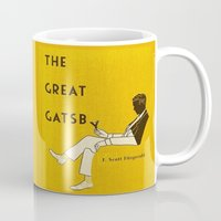 the great gatsby Mugs featuring The Great Gatsby by MW. [by Mathius Wilder]