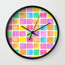 Hand painted watercolor patterns Wall Clock