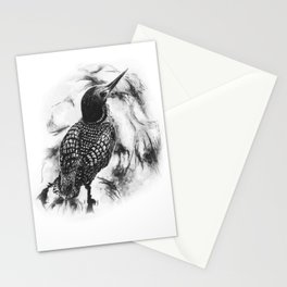 Loon Swimming in Lake by annmariescreations Stationery Cards
