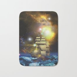 Sail Ship Universe Bath Mat