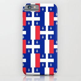Mix of flag: France and Quebec iPhone Case