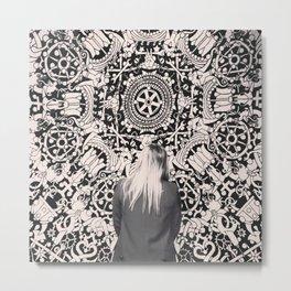 .better alone than alone. Metal Print